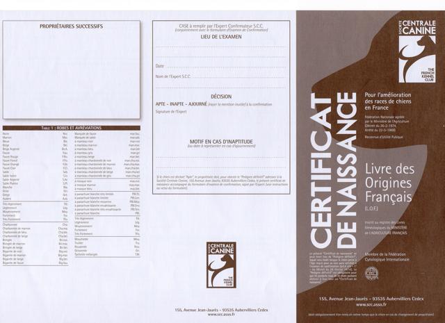 certificat naissance LOF